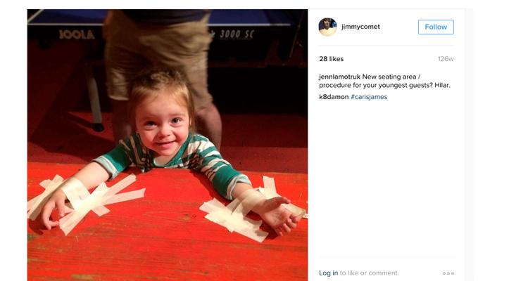 Instagram de Jimmy Commet pareja de James Alefantis - hipersexualización